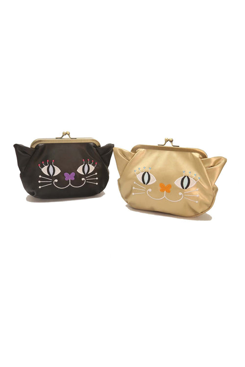 Cat Pouch With Kiss Lock - Anna Sui