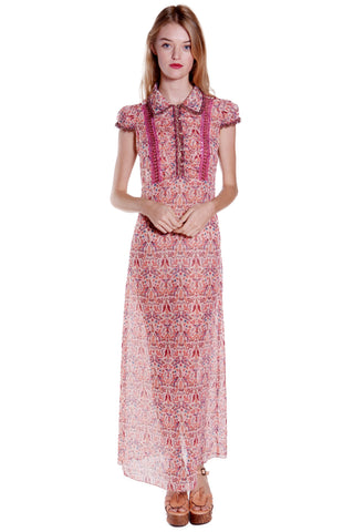 Kismet Clipped Jacquard Sleeveless Dress