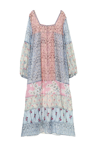 Paisley Garden Border Ruffle Dress