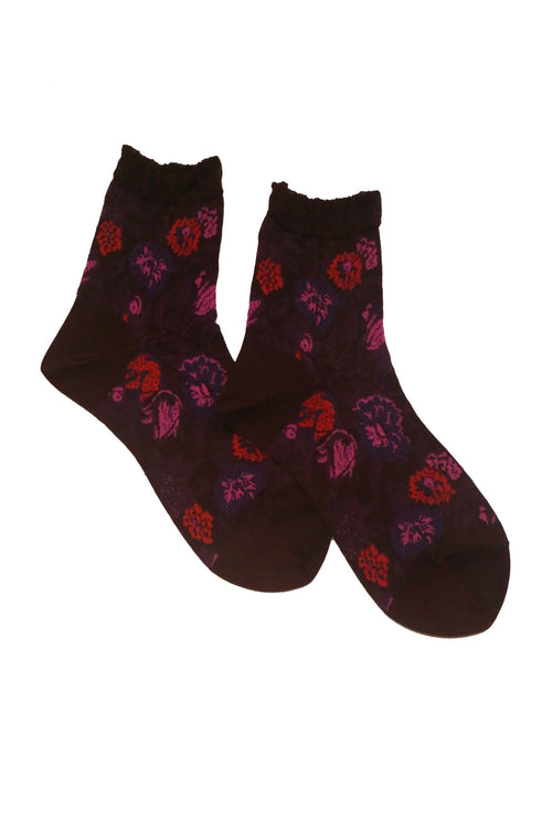 Victorian Lace Flower Socks