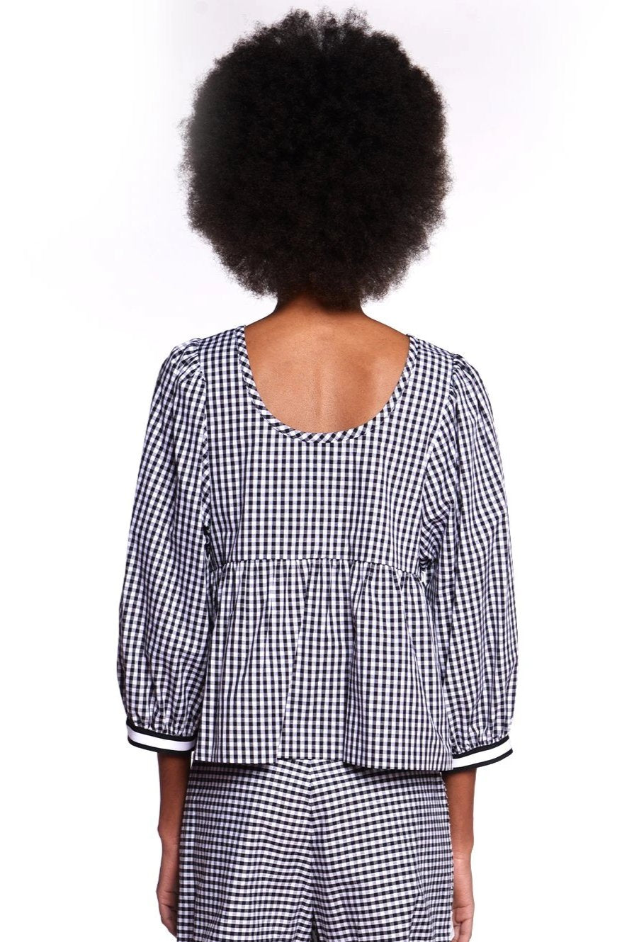 Embroidered Gingham Top - Anna Sui