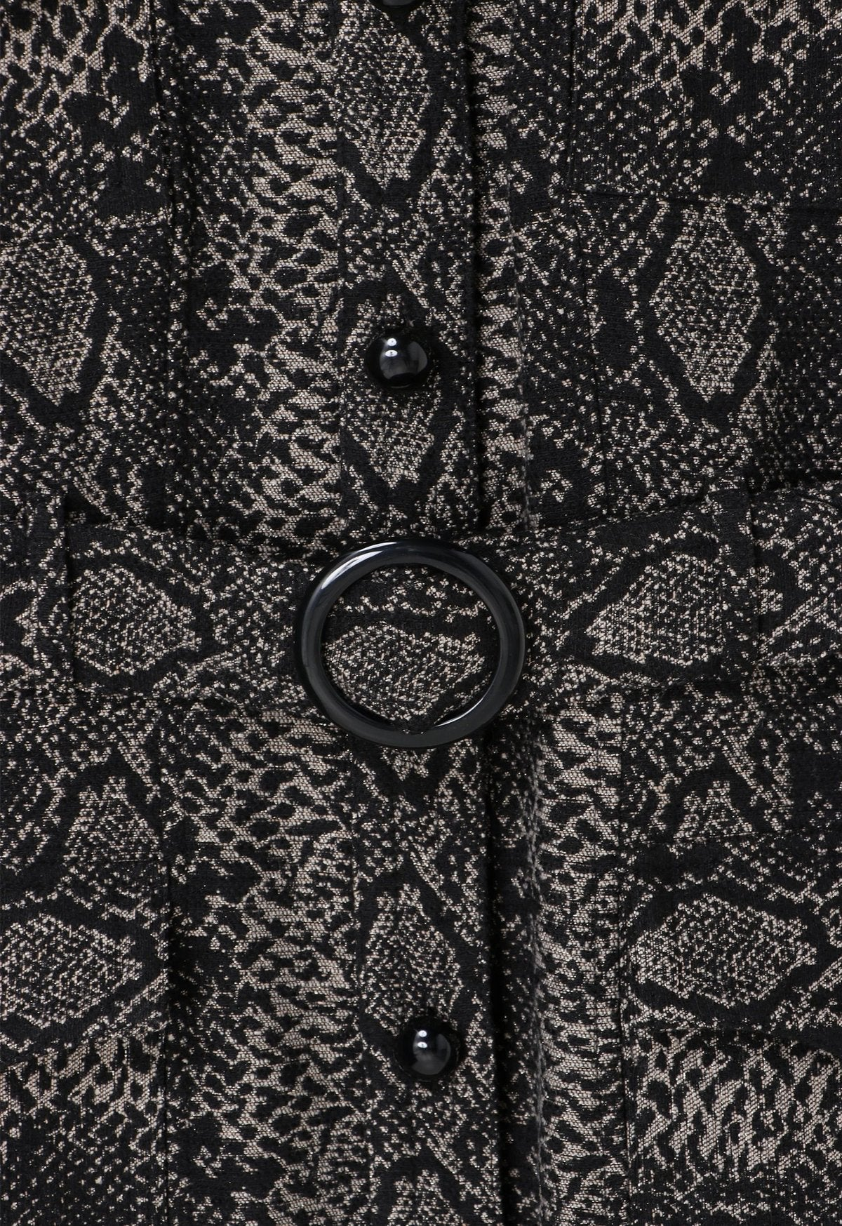 Serpent's Shimmer Coat - Anna Sui
