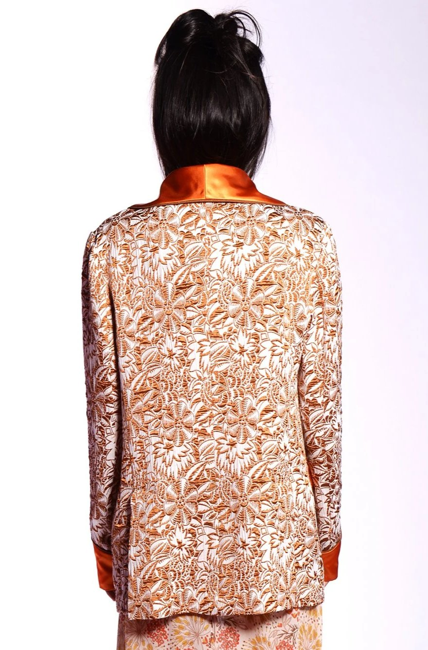 Jungle Gardenia Jacquard Jacket - Anna Sui
