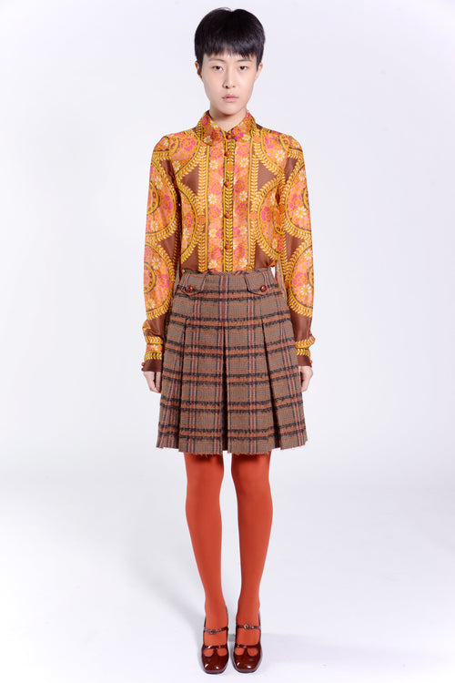 Brushed Plaid Skirt - Anna Sui