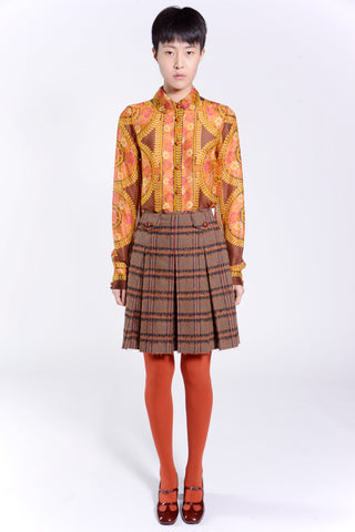Chunky Tweed School Girl Skirt