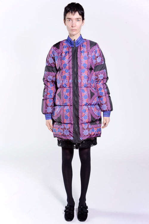 Rose Medallion Border Coat - Anna Sui
