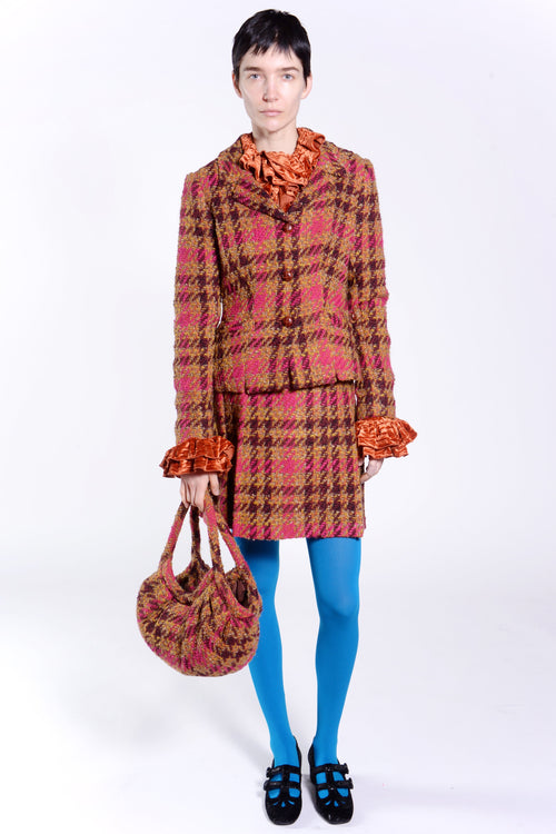 Chunky Tweed Jacket - Anna Sui