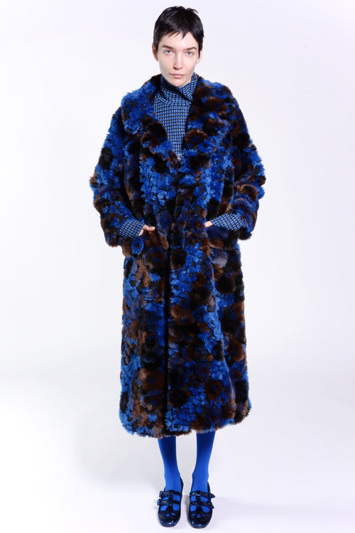 Bed of Roses Faux Fur Coat - Anna Sui