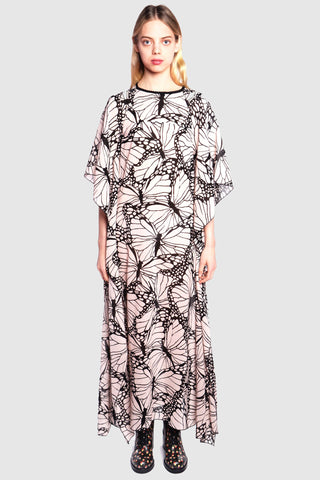 Paisley Border Mock Neck Dress