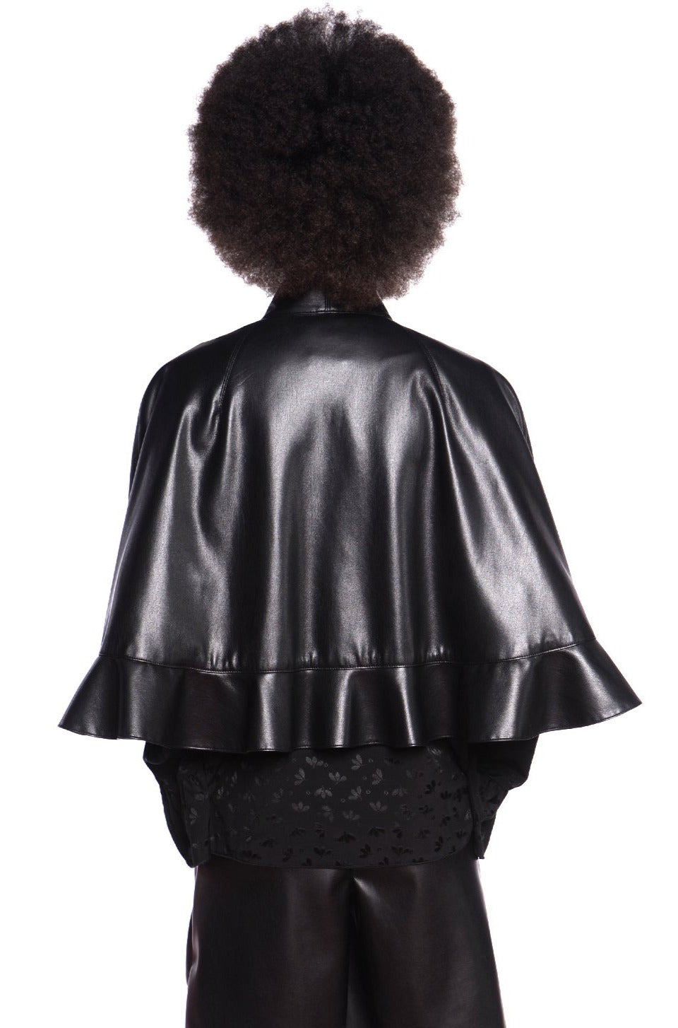 Faux Leather Capelet - Anna Sui