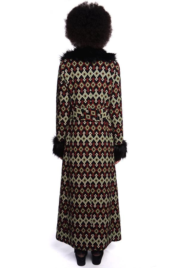 Diamond Jacquard Coat - Anna Sui