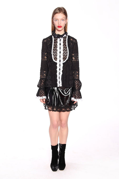 Rows of Flowers Lace Top - Anna Sui