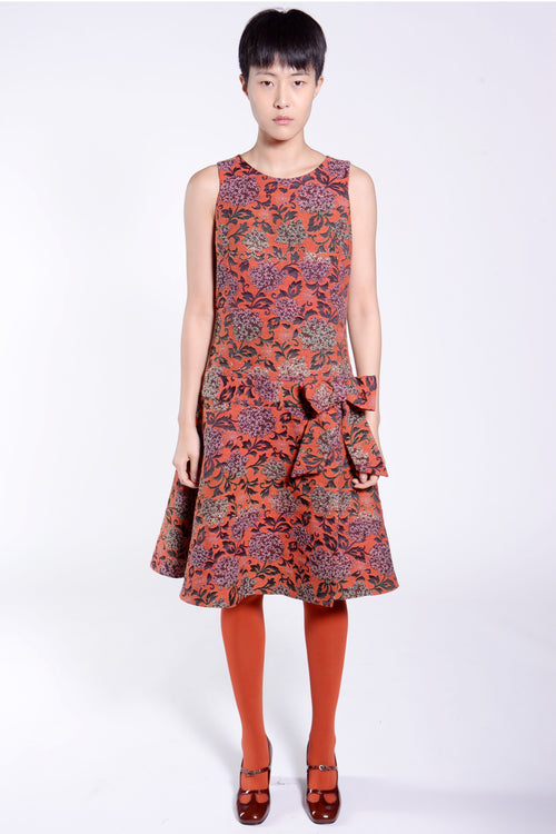 Harvest Bouquet Sleeveless Jacquard Dress - Anna Sui