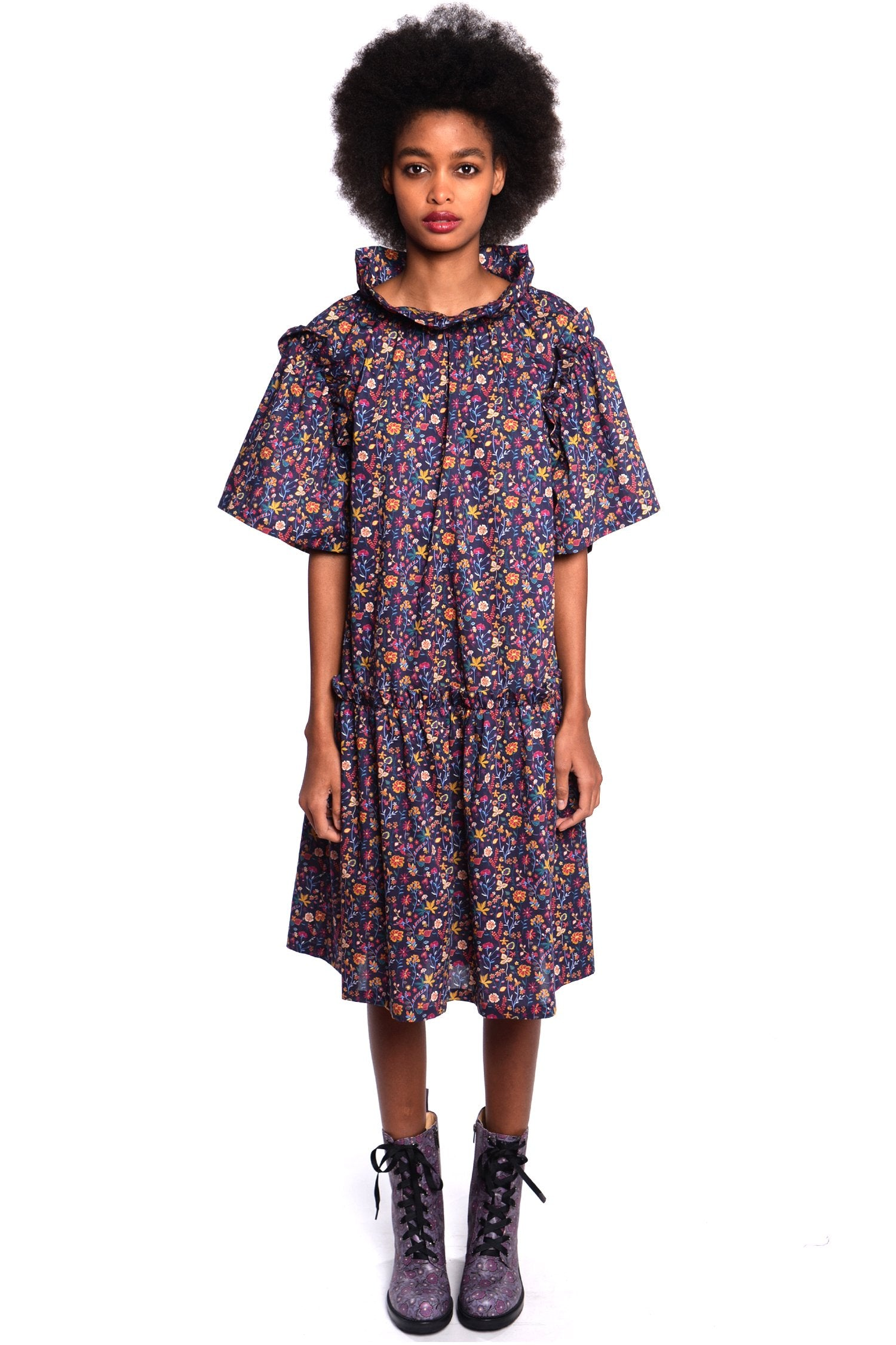 Botanist Diary Mock Neck Dress - Anna Sui