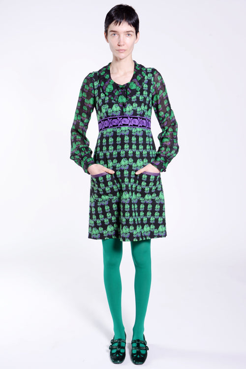 Mod Rosette Jacquard Dress - Anna Sui