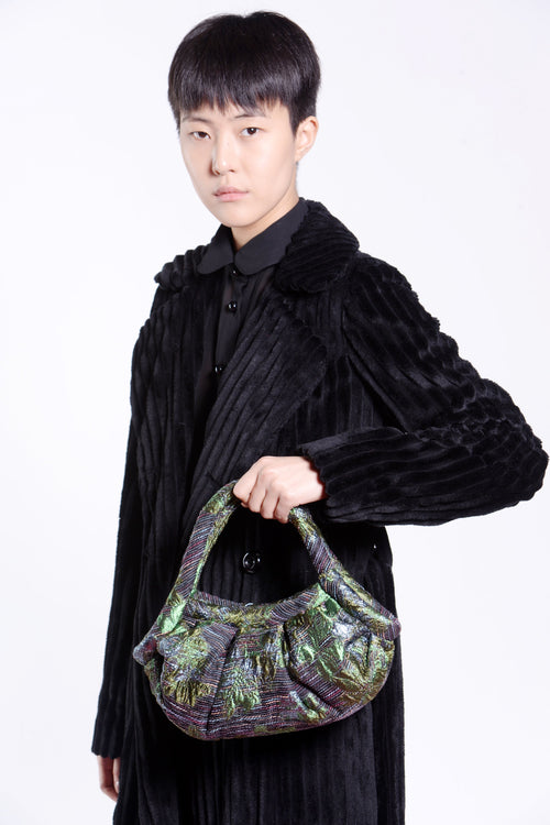 Winter Garden Metallic Jacquard Handbag - Anna Sui