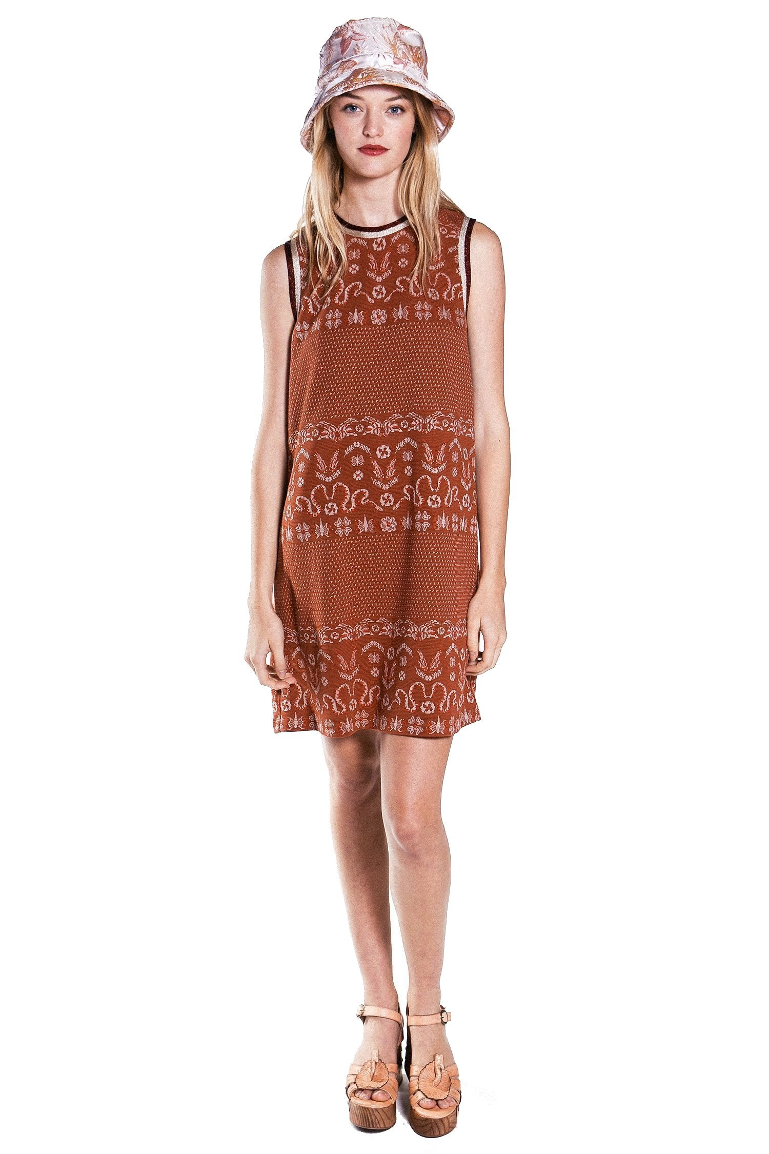 Birds & Snakes Knit Jacquard Dress - Anna Sui