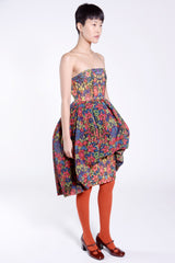 Kaleidoscope Stripes Jacquard Strapless Dress - Anna Sui