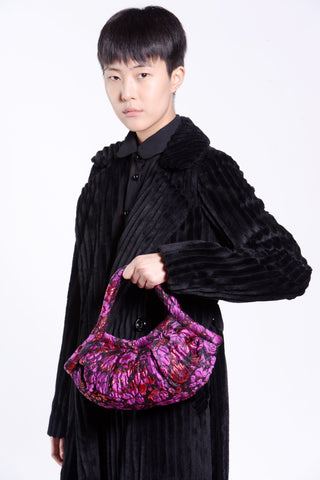 Winter Garden Metallic Jacquard Handbag