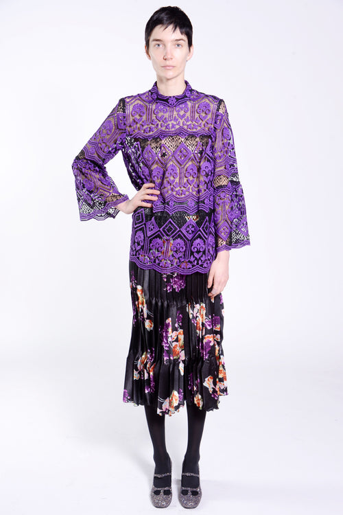 Latticework Lace Top - Anna Sui