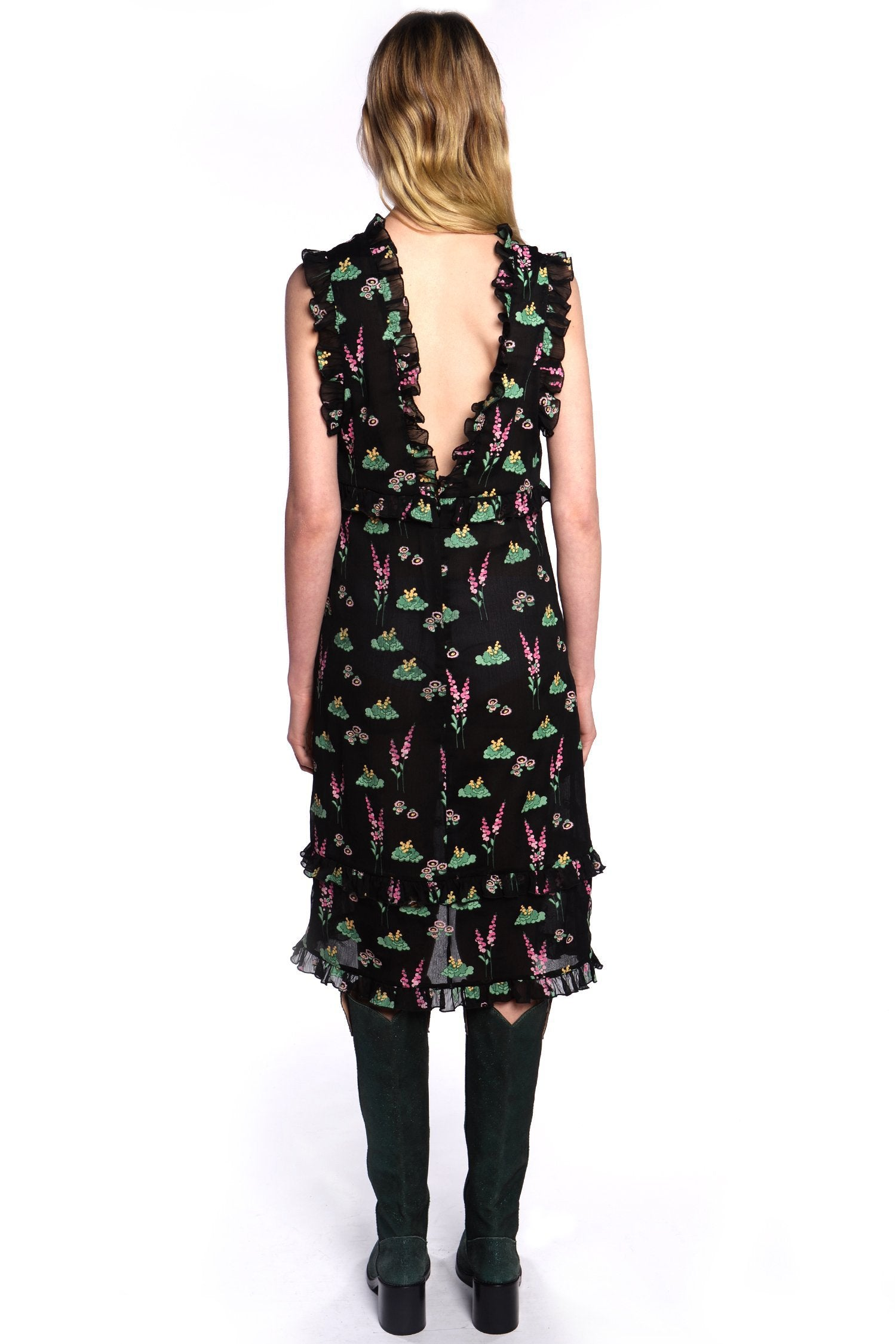 Nightshade V-Neck Dress - Anna Sui