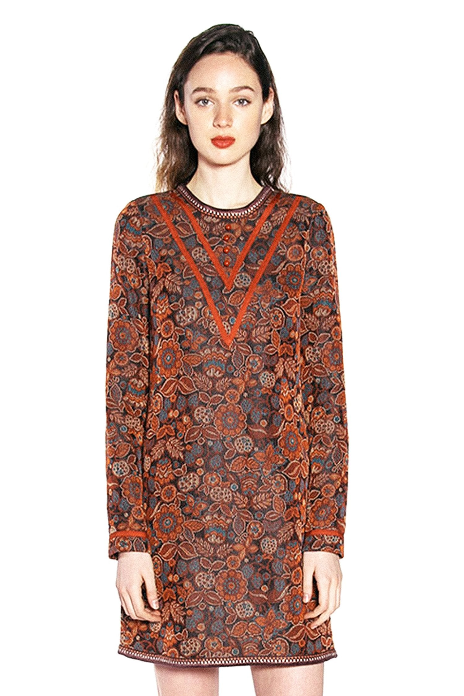 Floral Daze Jacquard Shift Dress - Anna Sui