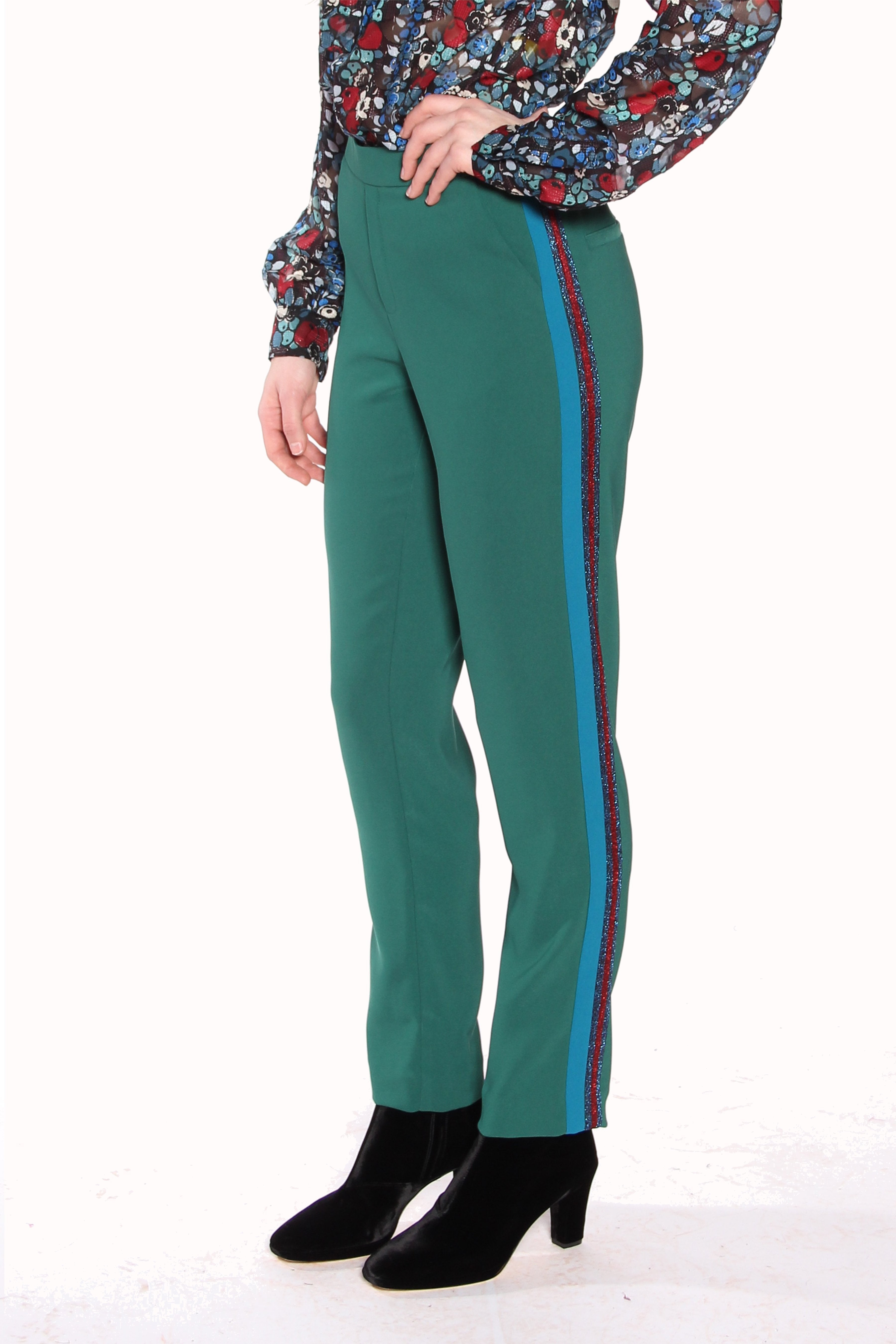 Color Block Crepe Pant