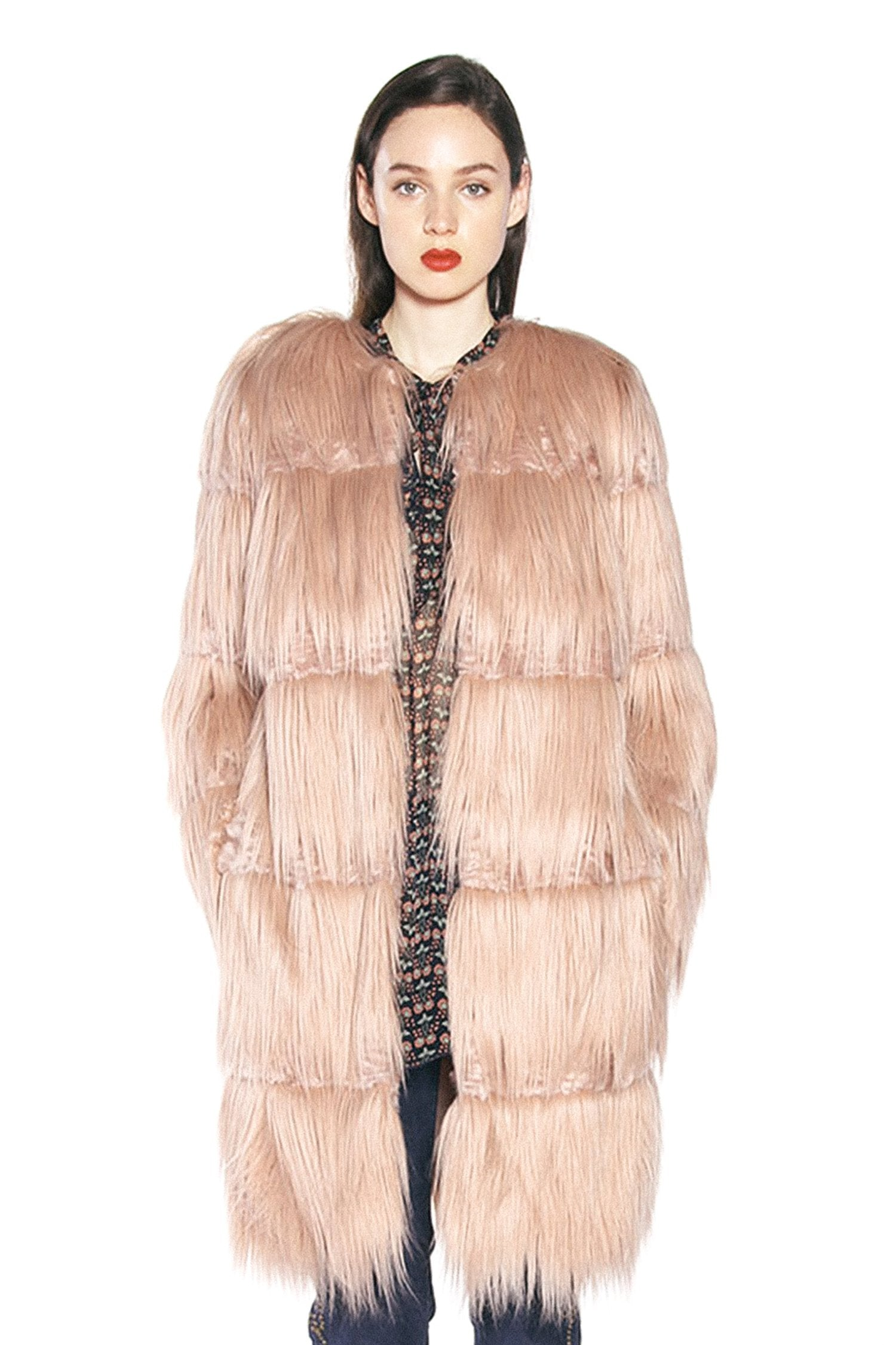 Luxe Fox Faux Fur Coat - Anna Sui