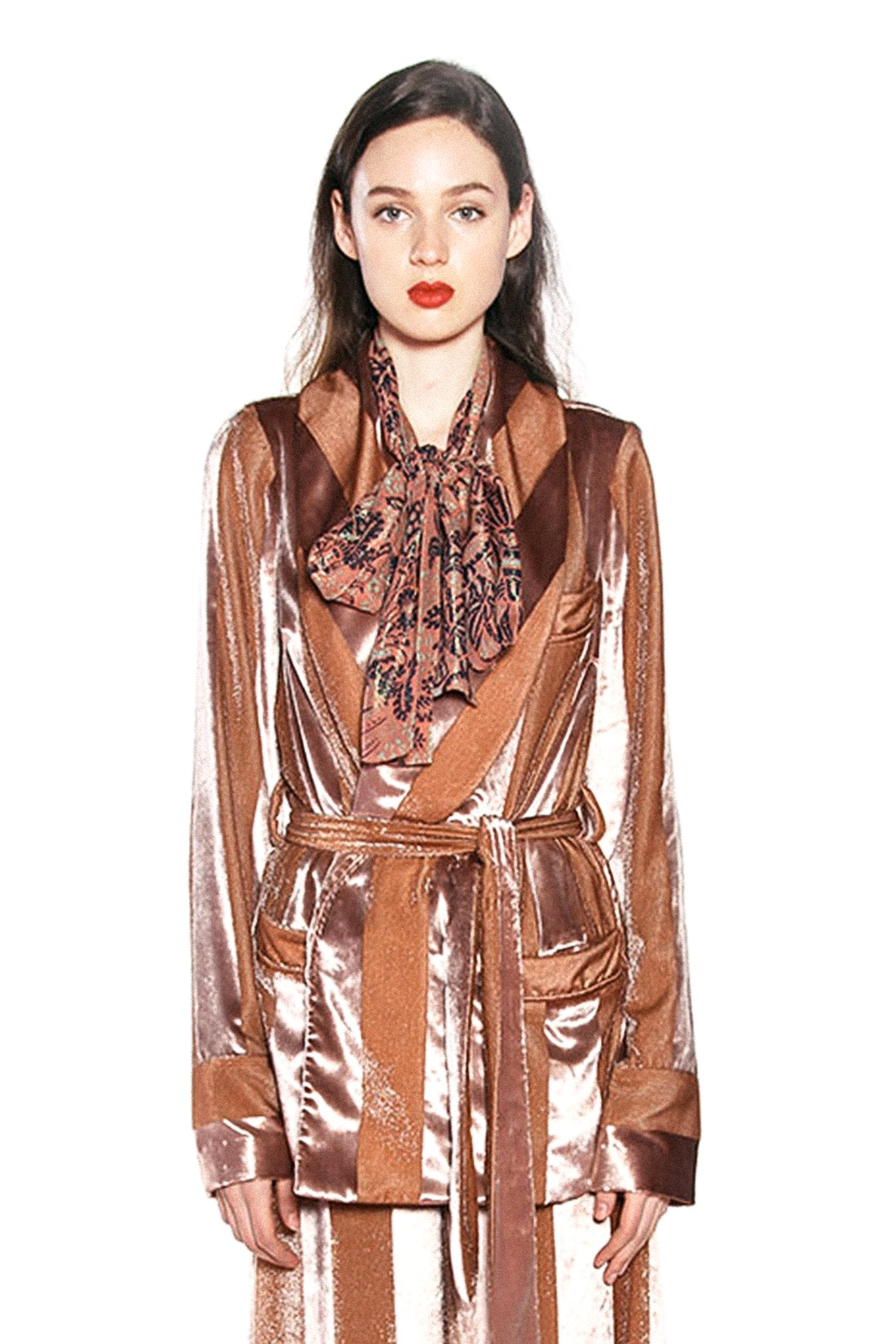 Seal It With a Kiss Stripe Velvet Jacket - Anna Sui