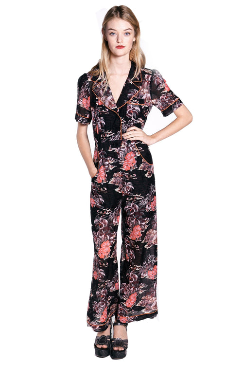 Hibiscus Islands Jumpsuit - Anna Sui