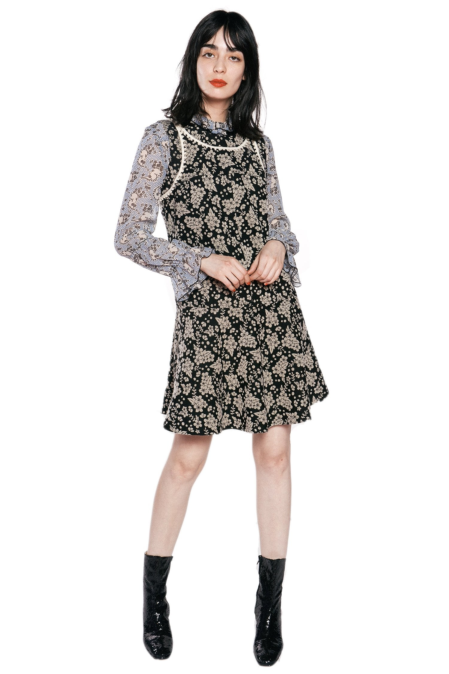 Flourishing Florets Jacquard Dress - Anna Sui