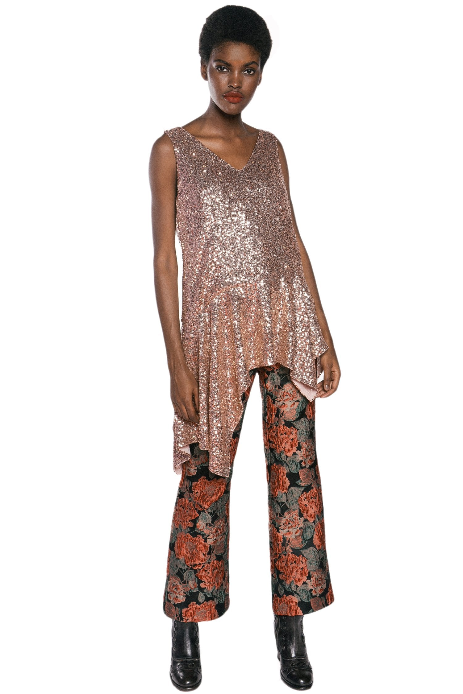 Sparkling Night Sequins Top - Anna Sui
