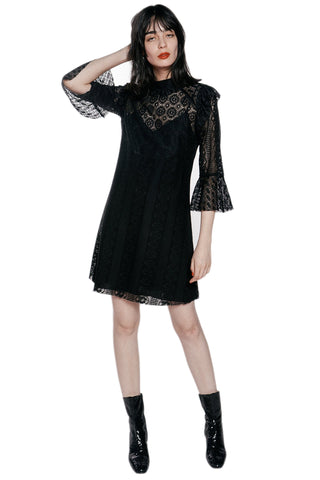 Baroque Lace & Velvet Dress