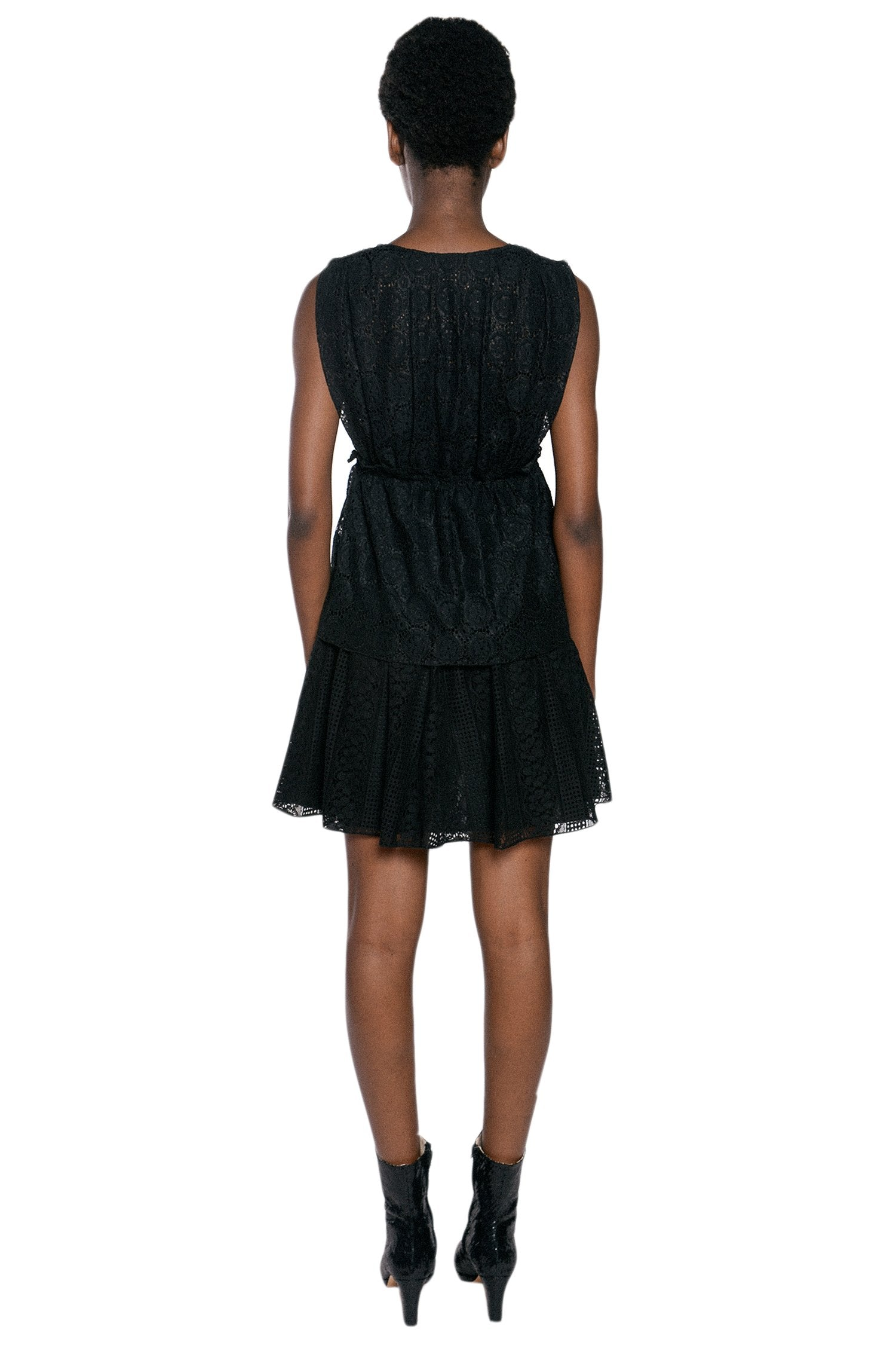 Midnight Medley Deep V Dress - Anna Sui