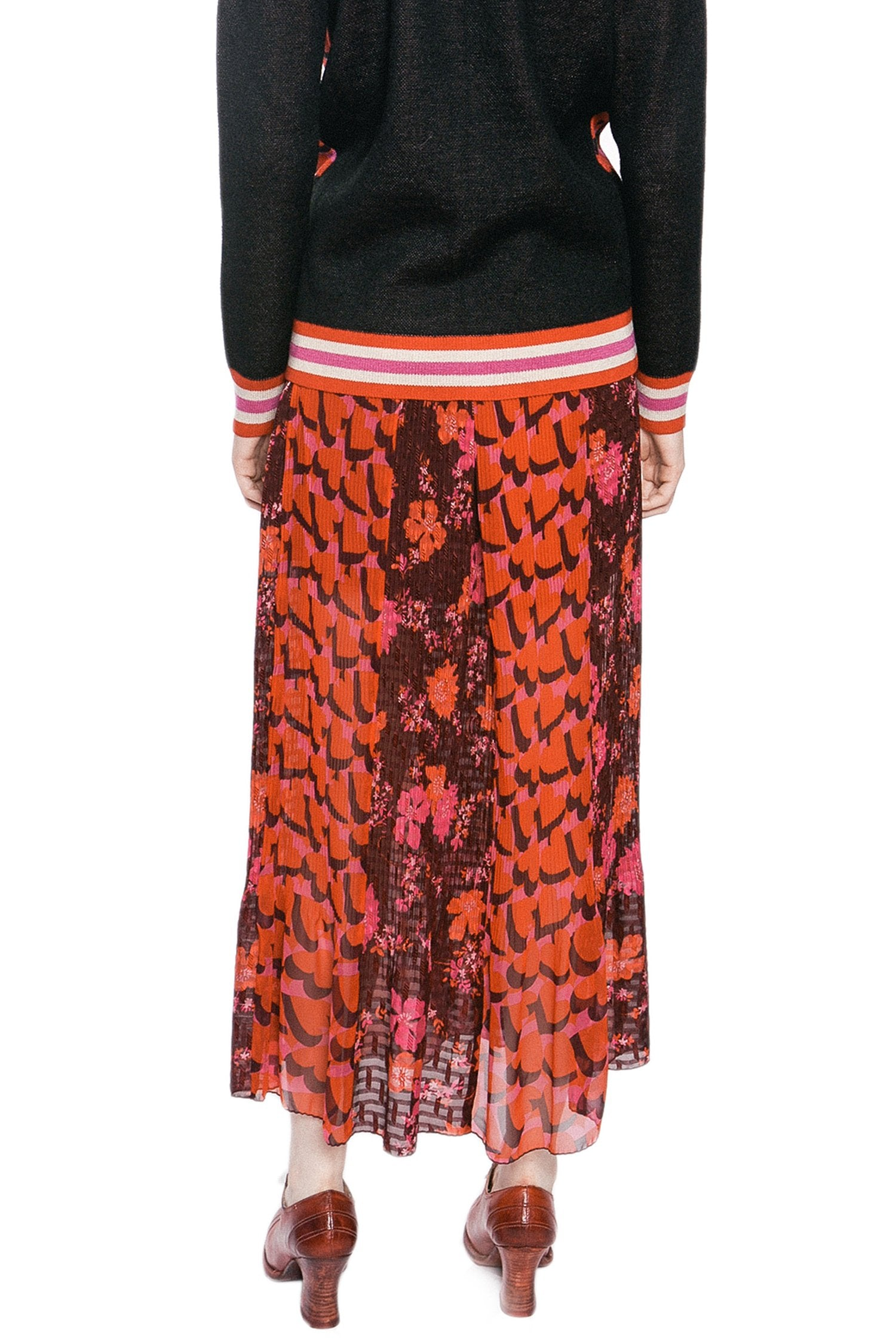 Scattered Flowers Clipped Jacquard Skirt - Anna Sui