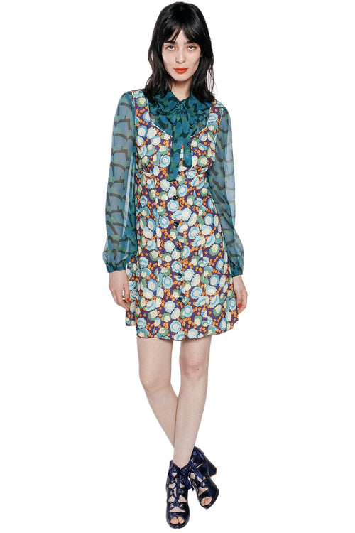 My Hearts Shadow Crinkle Chiffon Blouse - Anna Sui