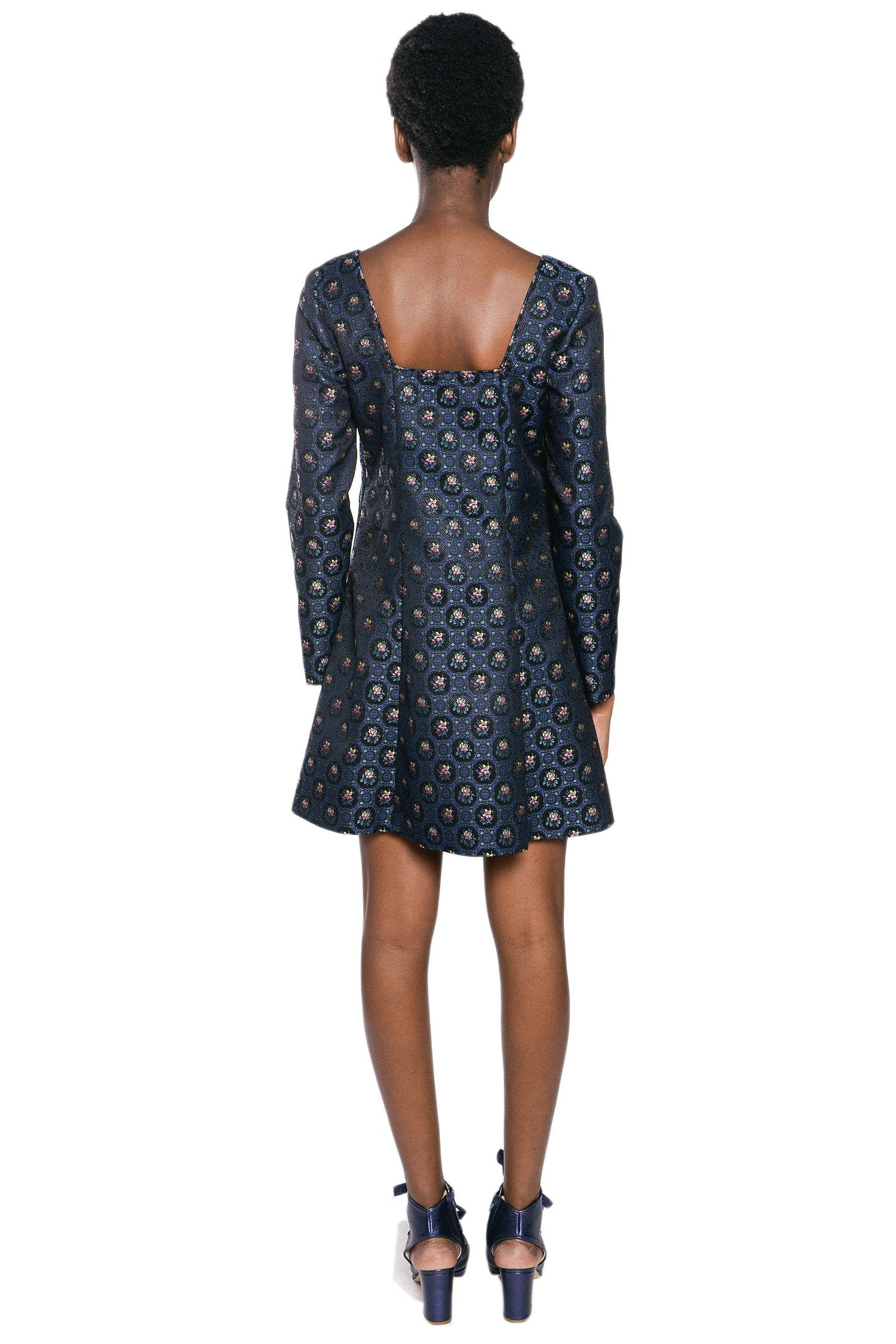 Pressed Petals Jacquard Dress