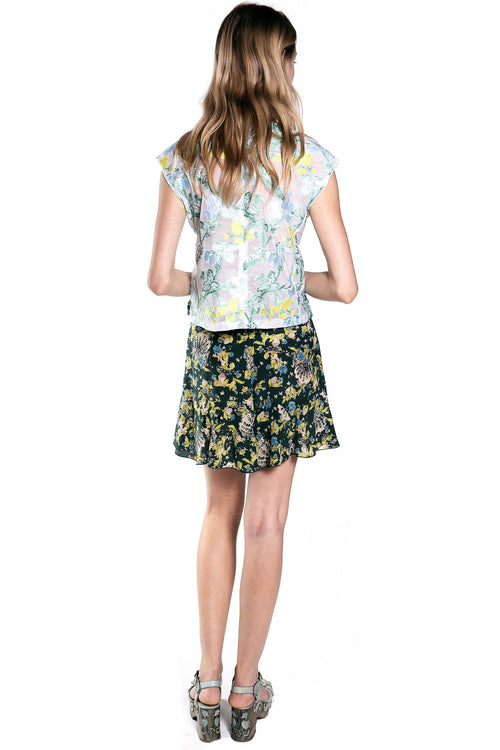 Stranger In Paradise Clipped Top - Anna Sui