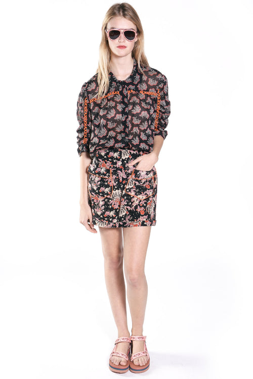 Floral Reef Short Sleeve Button Up Shirt