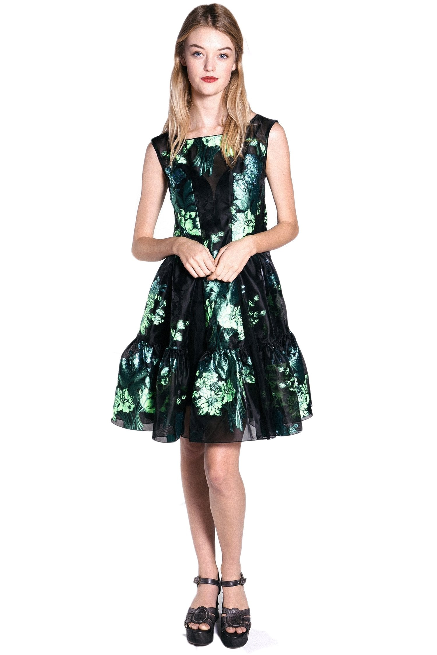 Kismet Clipped Jacquard Sleeveless Dress - Anna Sui