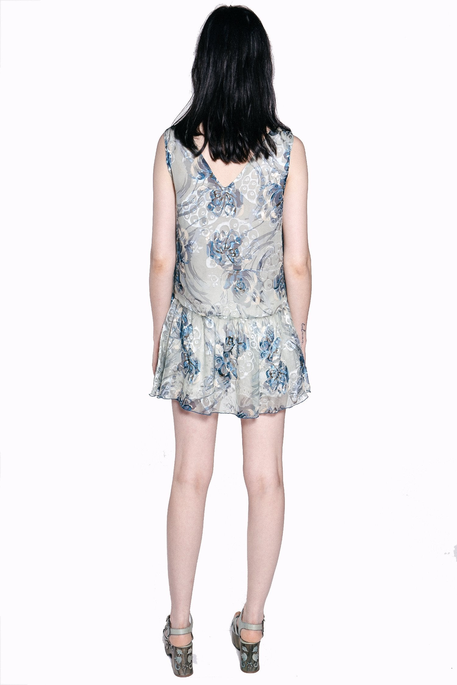 Lotus Pod Burnout Sleeveless Top - Anna Sui