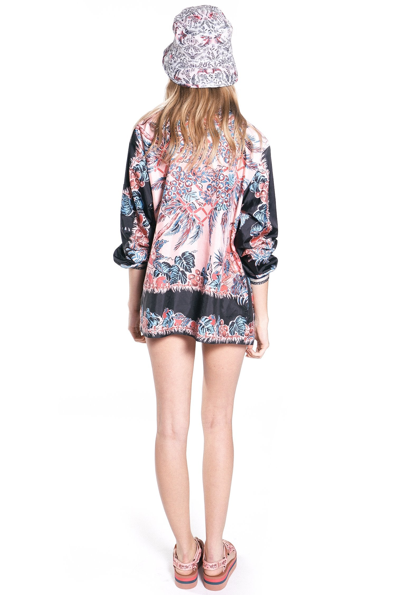 Tropical Fruit Medley Moto Jacket - Anna Sui
