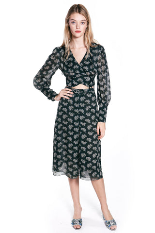 Garden of Eden Clipped Jacquard Dress
