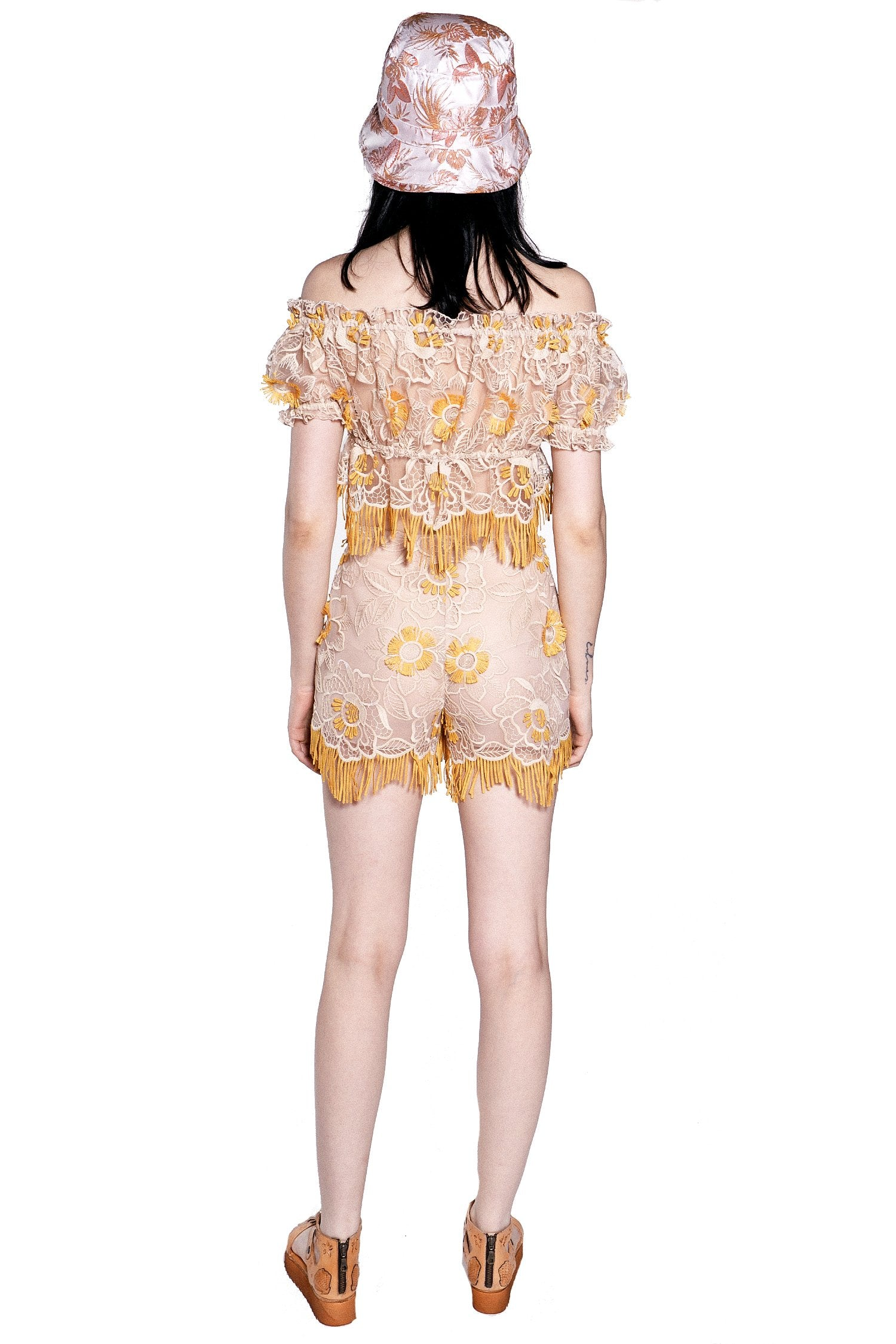 Lotus Flower Embroidered Top – Anna Sui 6c57bf3b0311
