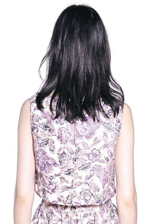 Butterfly Garden Printed Jacquard Top - Anna Sui