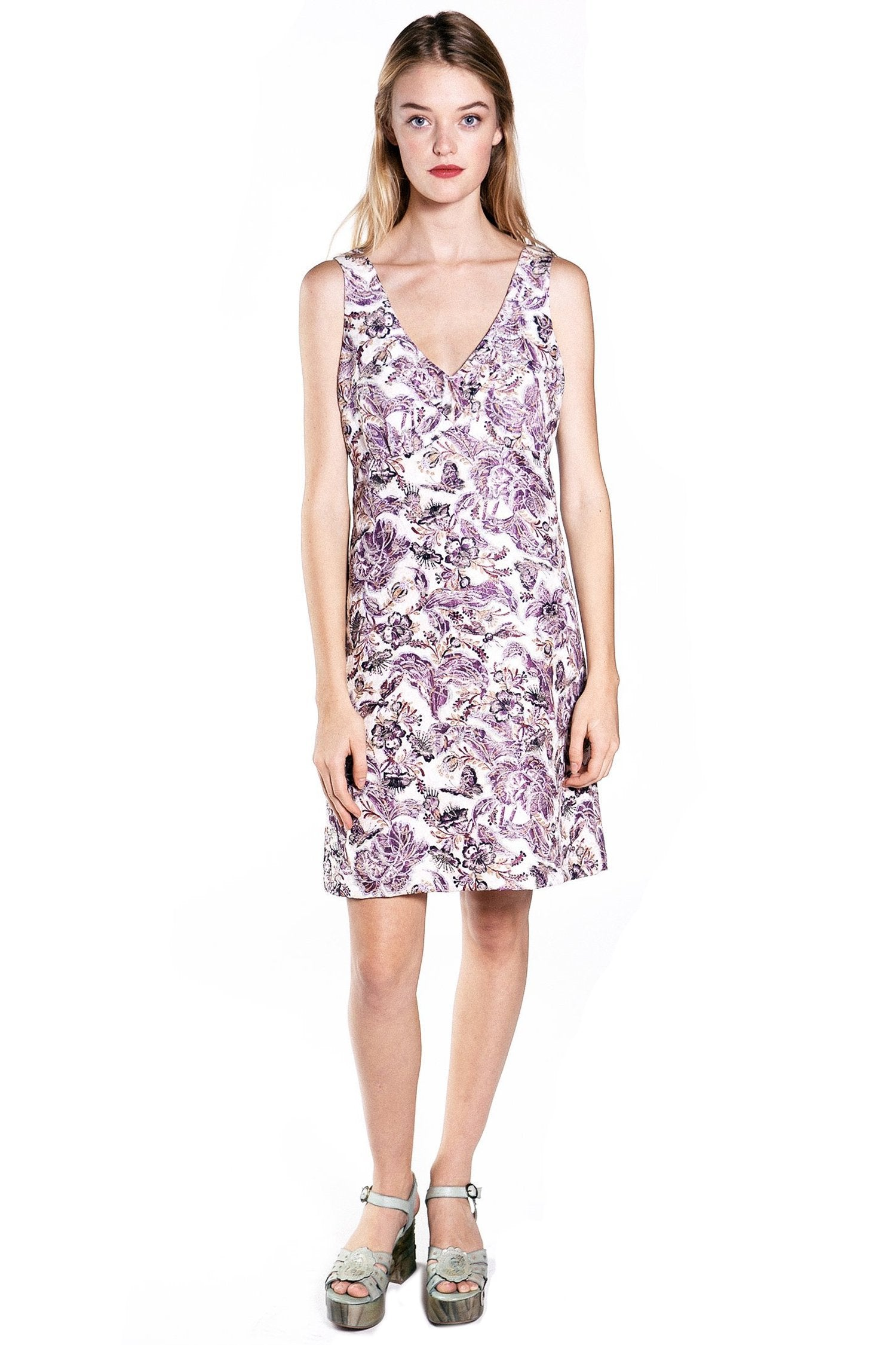 Butterfly Garden Printed Jacquard Dress