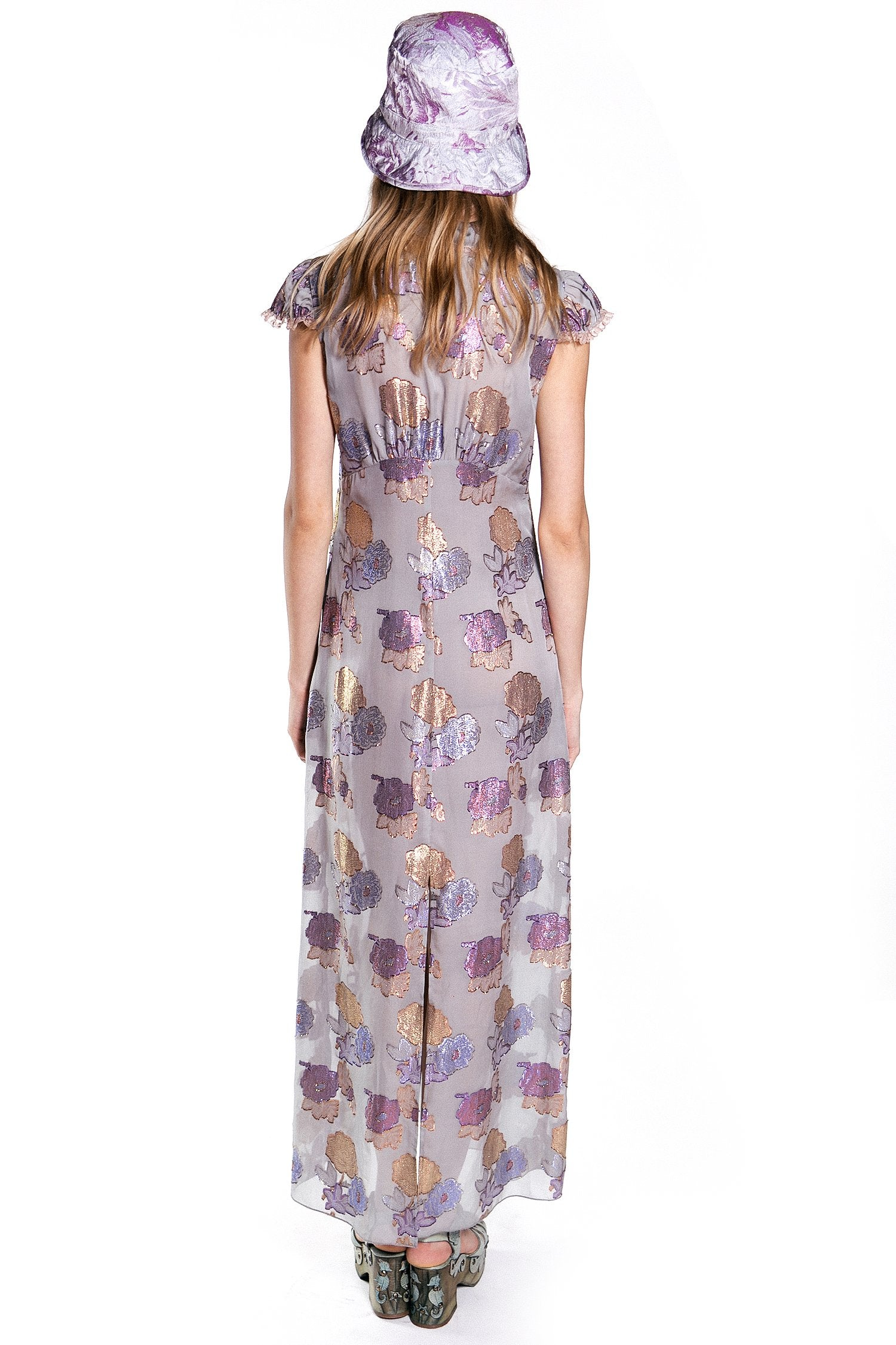 Bijou Roses Lurex Dress - Anna Sui