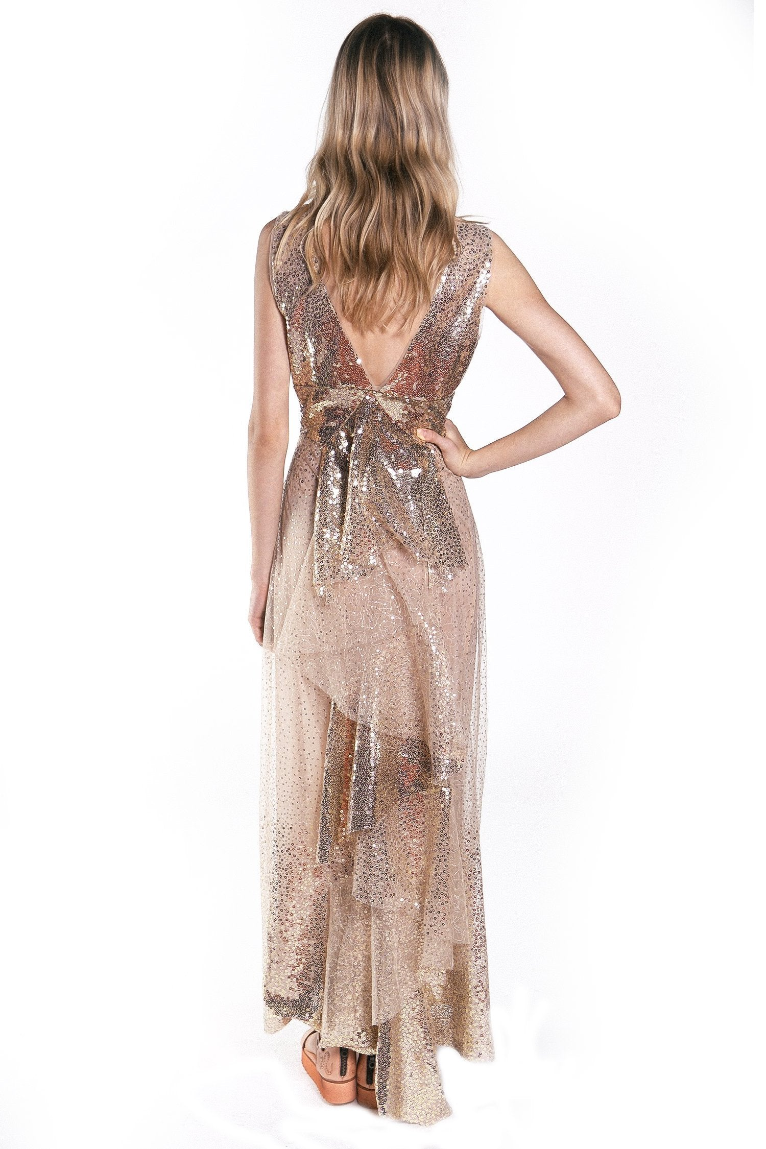 Jewel of the Sea Sparkle Maxi Dress - Anna Sui