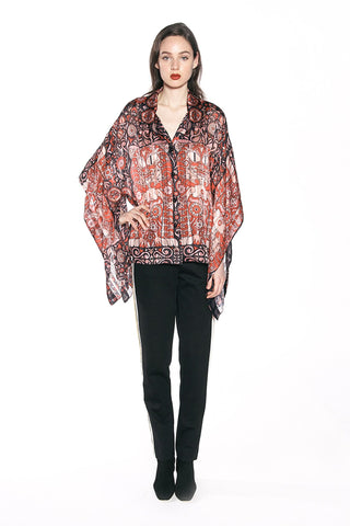 Tumbling Leaf Lace Blouse