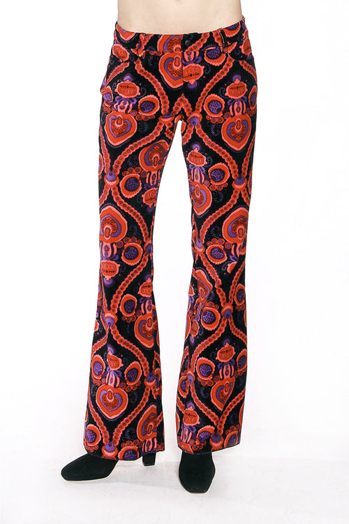 Arabesque Velvet Flared Trousers